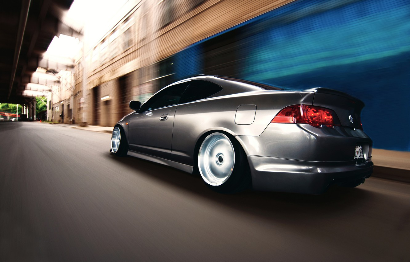 Photo wallpaper road, speed, Acura, RSX