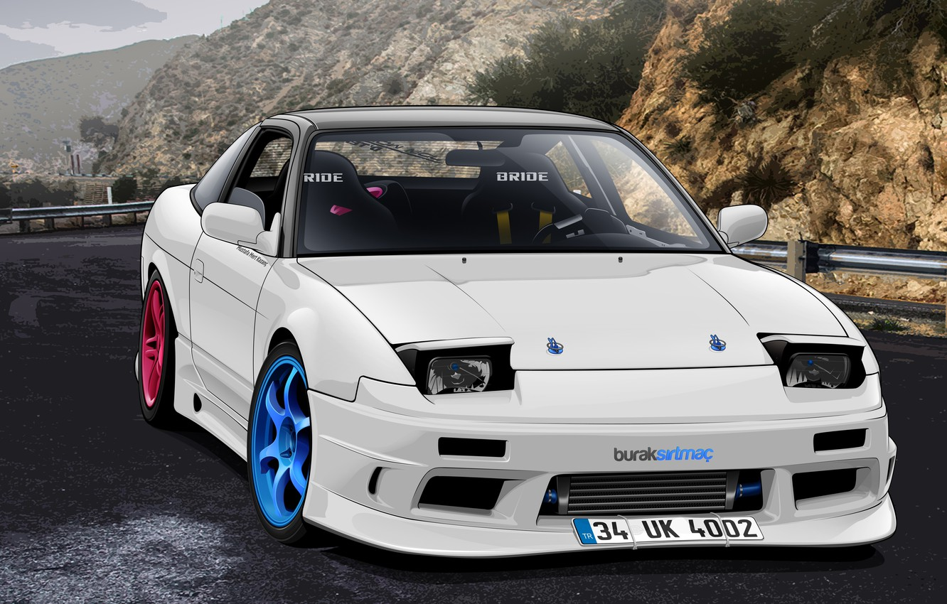 Photo wallpaper Nissan, S13, Drift Spec Vector, by Edcgraphic, 200SX