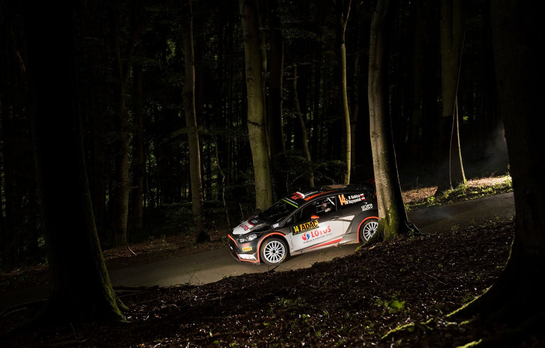 Photo wallpaper Ford, Night, WRC, Rally, Rally, Fiesta, Robert Kubica