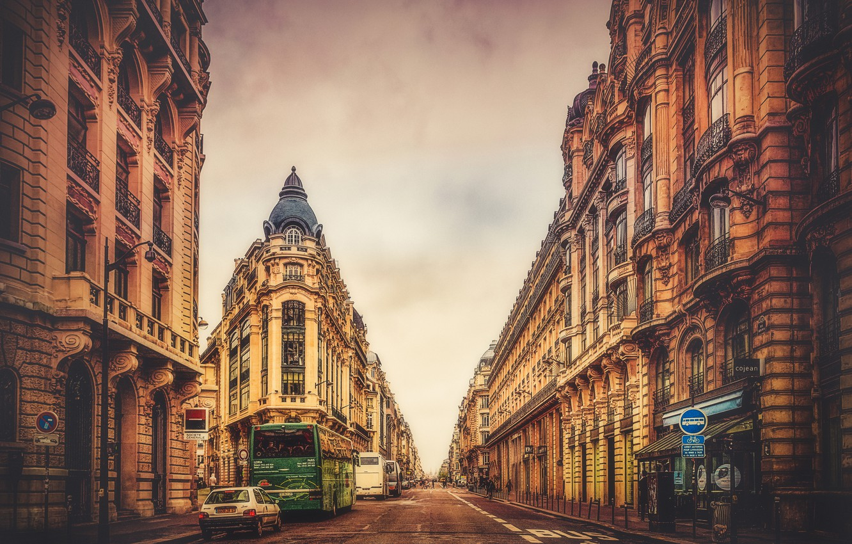 Photo wallpaper road, the city, transport, street, France, Paris, home, treatment