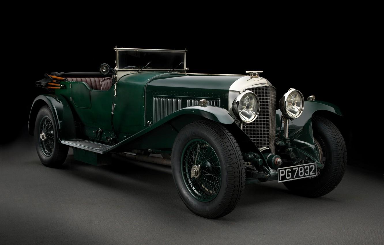 Photo wallpaper black background, Bentley, Tourer, 1927 Bentley