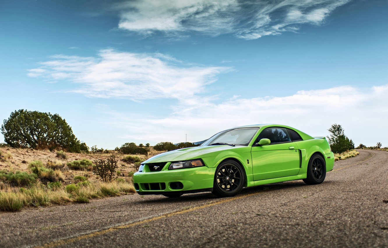 Photo wallpaper clouds, mustang, ford, shelby