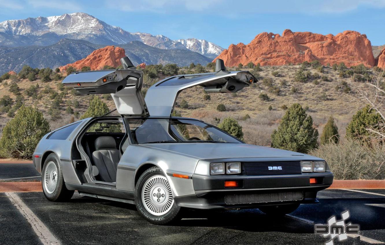 Photo wallpaper auto, DeLorean, DMC-12