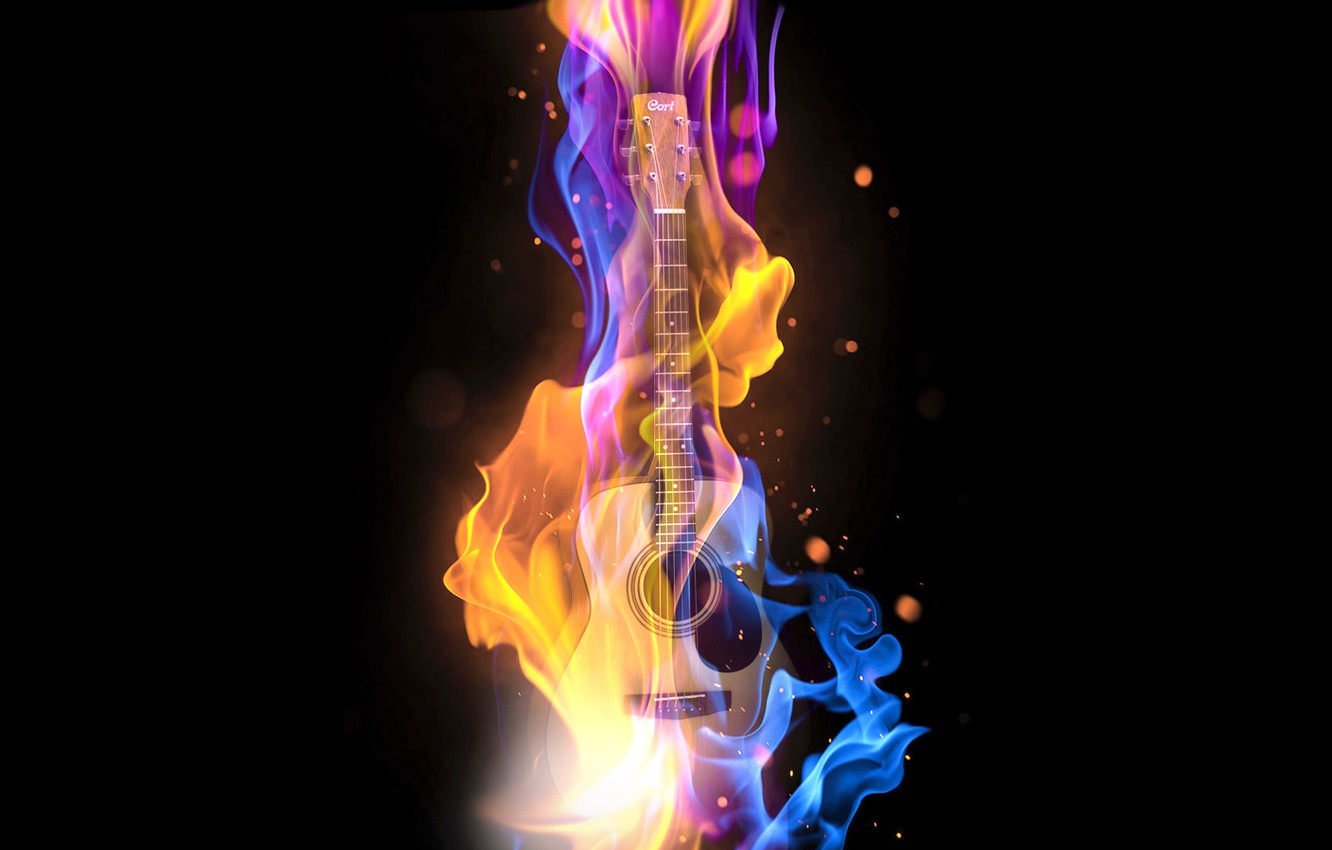 Wallpaper Music Fire Guitar Bass Bass Guitar Images For