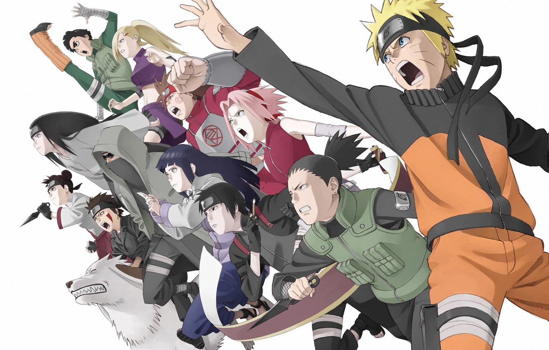 Photo wallpaper naruto, anime, sakura, guys