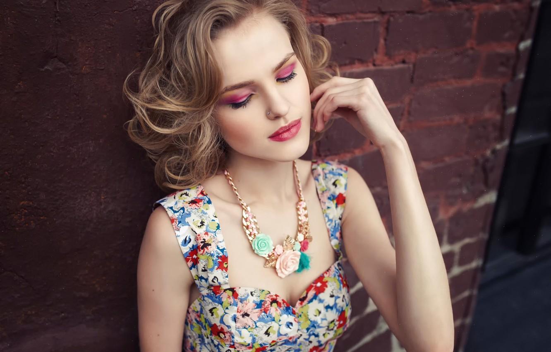 Photo wallpaper model, portrait, makeup, Alena Emelyanova