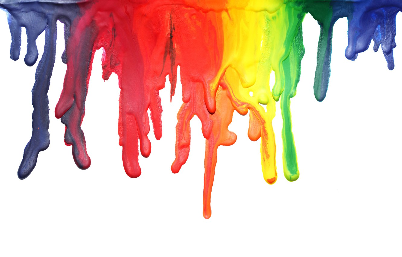 Photo wallpaper paint, colors, stains, paint, dripping, acrylic