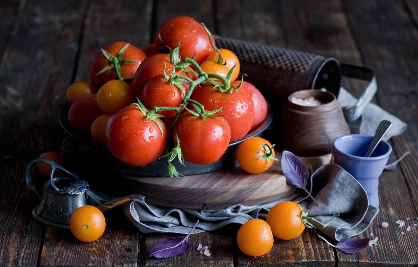 Photo wallpaper still life, vegetables, tomatoes, tomatoes