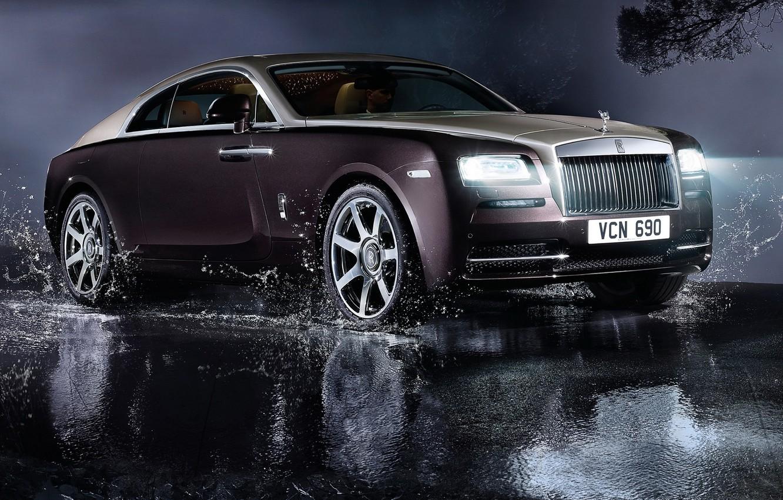 Photo wallpaper auto, light, lights, Rolls-Royce, luxury, rolls-Royce, Wraith