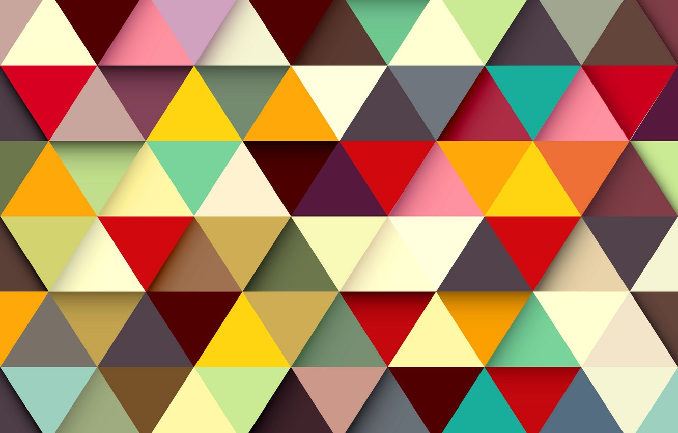 Photo wallpaper abstraction, background, triangles, colors, colorful, abstract, background