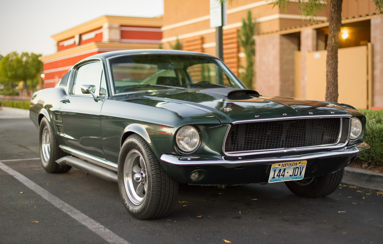 Photo wallpaper Mustang, Ford, classic, the front, Muscle car