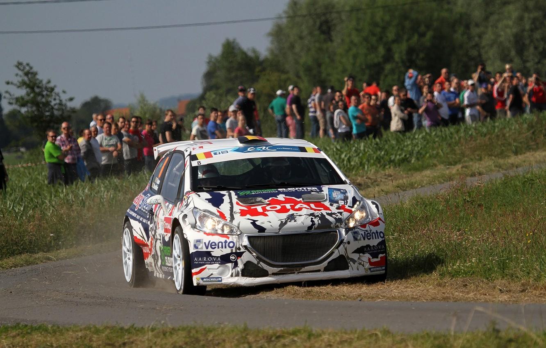 Photo wallpaper Turn, Peugeot, Rally, 208, T16, ERC