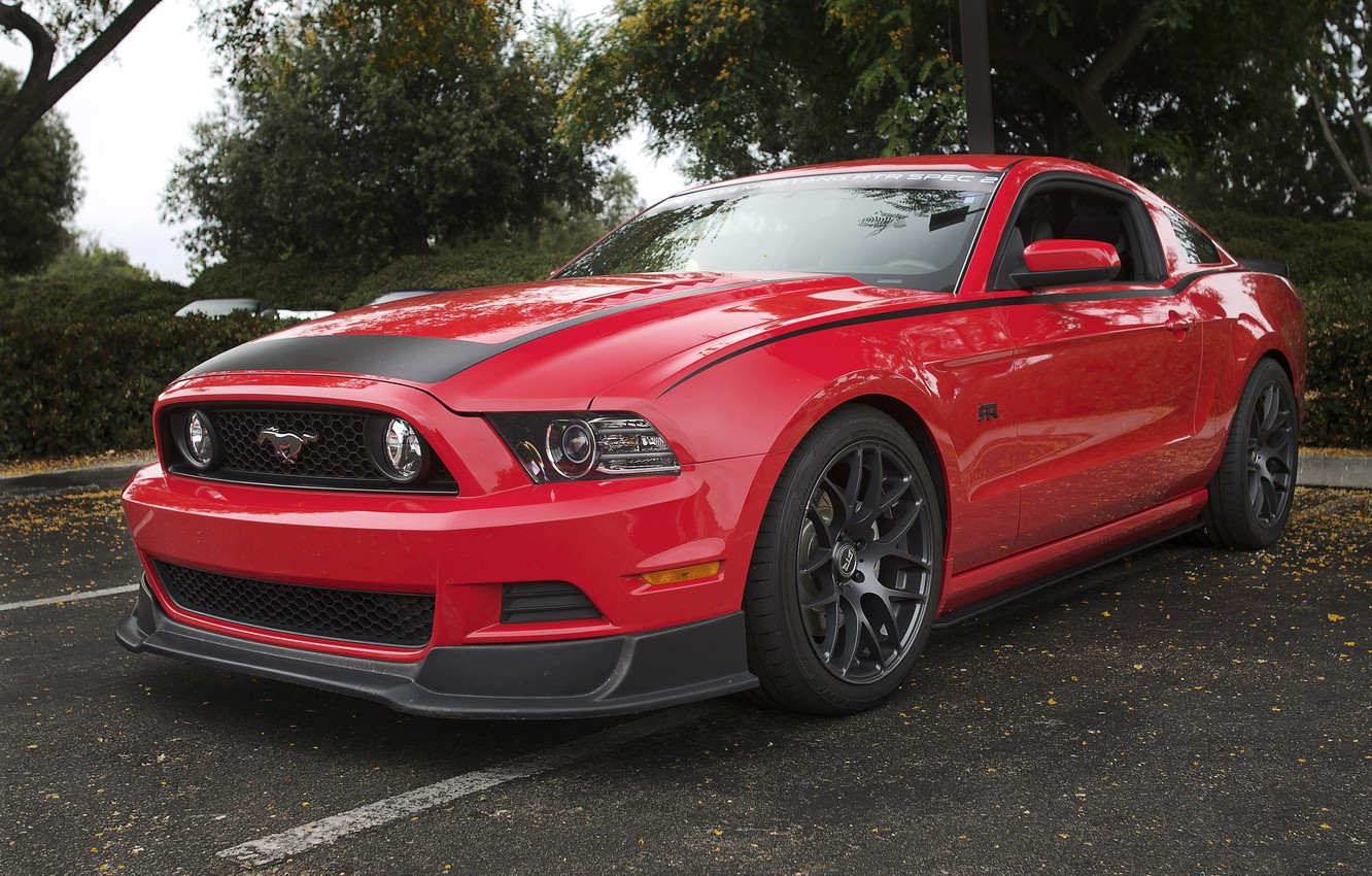 Photo wallpaper Mustang, Ford, Red, RTR
