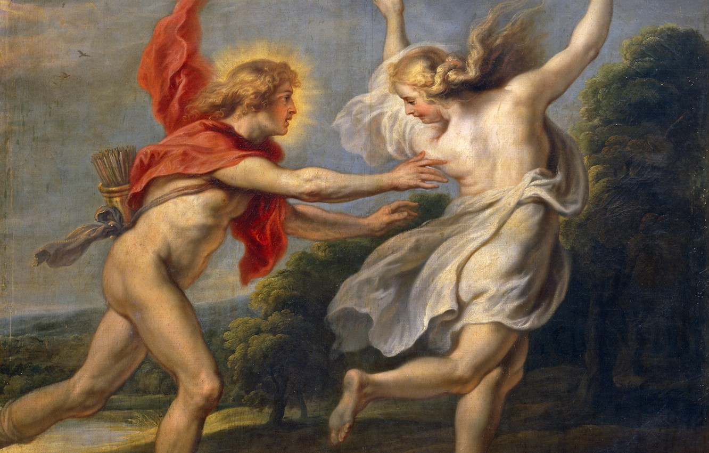 Photo wallpaper picture, mythology, Cornelis de Vos, Apollo and Daphne