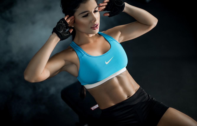 Photo wallpaper girl, face, hair, body, figure, sports, Luz
