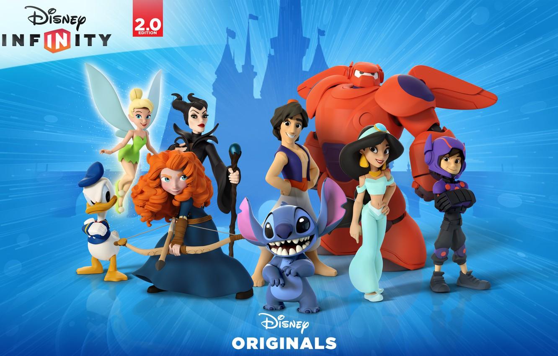 Photo wallpaper Disney, Aladdin, Brave, Donald Duck, videogame, Maleficent, Big Hero 6, Disney Infinity 2.0