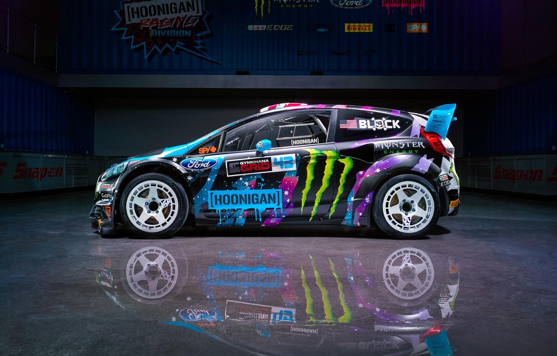 Photo wallpaper Ford, Racing, Side, Block, Fiesta, Ken, Division, Hoonigan, 2015, RX43