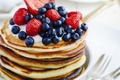 Picture berries, blueberries, pancakes, strawberry