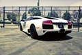 Picture Race car, Photography, Lamborghini, Murcielago, City, lamborghini murcielago, cars, White, auto, wallpapers auto, Supercars