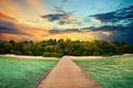 Picture sand, sea, beach, the sky, the sun, landscape, sunset, nature, the ocean, dawn, beach, sky, ...