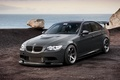 Picture rock, 335i, BMW, sea, 3 Series, E90, black, BMW