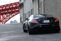 Picture wall, SLR McLaren, gate, back, black, black, Mercedes Benz, pipe, Mercedes Benz, SLR McLaren