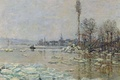 Picture landscape, picture, spring, Claude Monet, The Opening Of The Ice