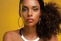 Picture portrait, look, African beauty, girl, mulatto, dark skin, black hair