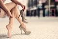 Picture comfort, heels, legs