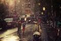 Picture wallpapers, sidewalks, children, asphalt, the shower, Wallpaper, rain, street, mood, summer, road, drops
