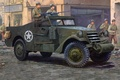 Picture Wallpaper, the second world war, APC, M-3 Scout