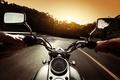 Picture road, biker, motorcycle, face, the evening, biker, full throttle, full throttle, feel of speed, turn, ...