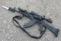 Picture weapons, optics, the gun, carabiner, Saiga, bayonet, self-loading