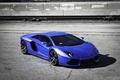 Picture blue, shadow, railroad, lamborghini, blue, aventador, lp700-4, Lamborghini