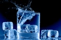 Picture splash, glass, water, ice cubes, ice