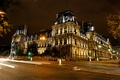 Picture the building, France, Paris, road, trees, capital, night, lights