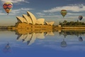 Picture the sky, water, reflection, balloons, Sydney