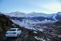 Picture machine, snow, mountains, Auto, Lada, Lada, Vesta, Vesta