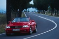 Picture nature, road, trees, machine, cars, Mercedes, mercedes benz sl r cars, widescreen pictures