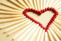 Picture macro, love, joy, creative, mood, mood, heart, matches, focus, heart, hearts, heart