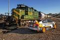 Picture train, Subaru, railroad, WRX, STI, Subaru, Rallycross, 2015