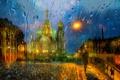 Picture the city, rain, street, Peter, St. Petersburg