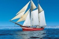 Picture sky, sea, sailing ship, NOORDERLIGHT