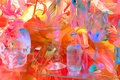 Picture vase, color, bottle, dishes, glass, line