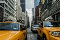 Picture Manhattan, America, street, NYC, United States, cabs, cab, yellow cab, taxis, metropolis, taxi, New York, ...