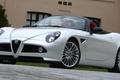 Picture Alfa Romeo, Alfa 8C Spider, Alfa Romeo Wallpaper, Spider, Alfa White, White, Alfa 8c, Alfa ...