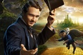 Picture poster, the magician, road, James Franco, monkey, hat, cylinder, James Franco, country, volatile, castle, Oz ...