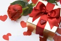 Picture flower, love, flowers, holiday, gift, heart, rose, tape, bow, heart, surprise