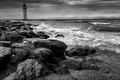 Picture rocks, sea, lighthouse