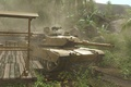 Picture palm trees, Crysis, tank, hut